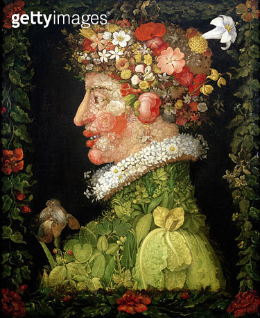 <b>Title</b> : Spring, from a series depicting the four seasons, 1573 (oil on canvas)<br><b>Medium</b> : oil on canvas<br><b>Location</b> : Louvre, Paris, France<br> - gettyimageskorea
