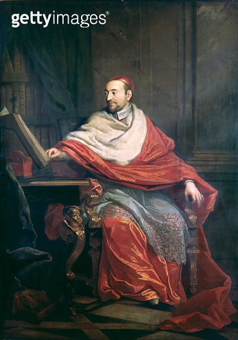 <b>Title</b> : Cardinal Pierre de Berulle (1575-1629) (oil on canvas)<br><b>Medium</b> : oil on canvas<br><b>Location</b> : St. Sulpice, Paris, France<br> - gettyimageskorea