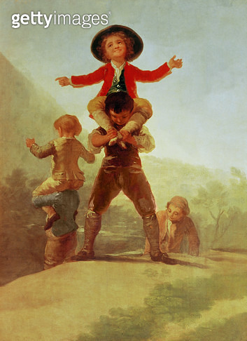 <b>Title</b> : The Little Giants, 1790-92 (oil on canvas)<br><b>Medium</b> : oil on canvas<br><b>Location</b> : Prado, Madrid, Spain<br> - gettyimageskorea