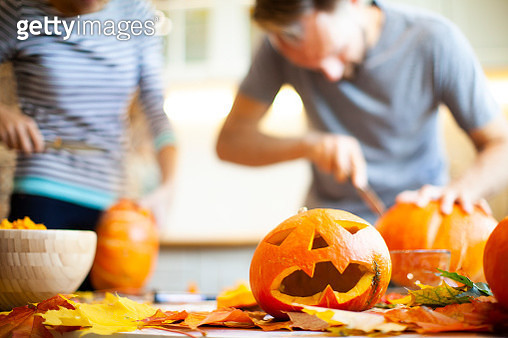 Getting ready for Halloween - gettyimageskorea