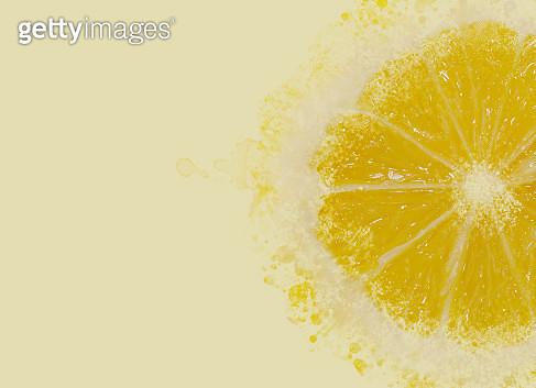 Lemon explosion into particle - gettyimageskorea
