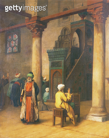 In the Mosque - gettyimageskorea