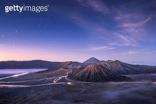 Mount Bromo, is an active volcano and part of the Tengger massif, in East Java, Indonesia. - gettyimageskorea