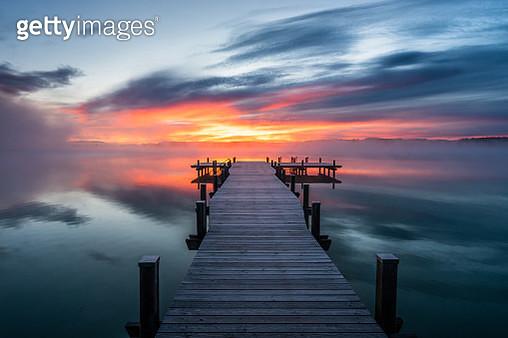 Beautiful sunrise at lake Wörthsee - gettyimageskorea