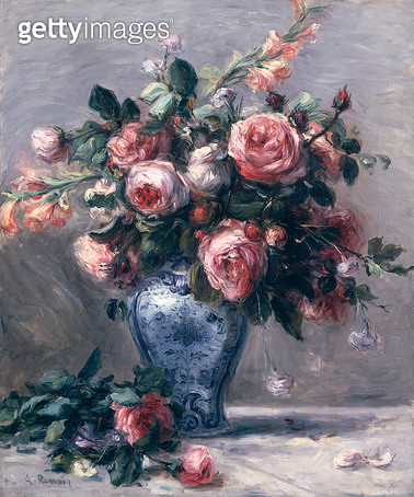 <b>Title</b> : Vase of Roses (oil on canvas)<br><b>Medium</b> : oil on canvas<br><b>Location</b> : Private Collection<br> - gettyimageskorea