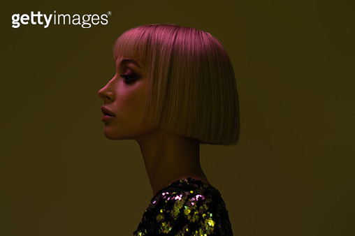 Portrait of young girl with blond hairs - gettyimageskorea