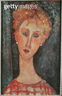 <b>Title</b> : Young Girl with Earrings (oil on canvas)Additional InfoLa Jeune Femme aux Boucles d'Oreilles;<br><b>Medium</b> : oil on canvas<br><b>Location</b> : Musee d'Art Moderne de la Ville de Paris, Paris, France<br> - gettyimageskorea