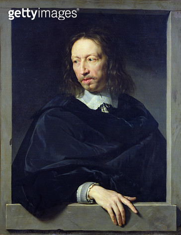 <b>Title</b> : Portrait of a Gentleman, known as Arnaud d'Andilly (1588-1674) 1650 (oil on canvas)Additional Infofrench family involved in Jans<br><b>Medium</b> : oil on canvas<br><b>Location</b> : Louvre, Paris, France<br> - gettyimageskorea