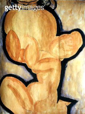 <b>Title</b> : Caryatid with a Vase, c.1913-14 (gouache on paper)<br><b>Medium</b> : gouache on paper<br><b>Location</b> : Perls Galleries, New York, USA<br> - gettyimageskorea