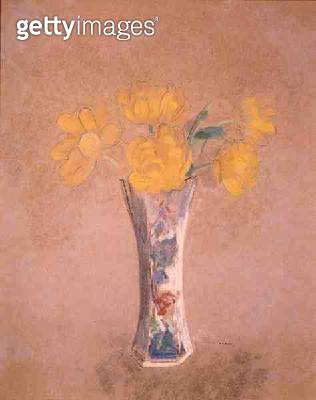 <b>Title</b> : Vase of Flowers (pastel on paper)<br><b>Medium</b> : pastel on paper<br><b>Location</b> : Private Collection<br> - gettyimageskorea