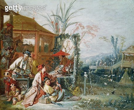 <b>Title</b> : The Chinese Hunt, c.1742 (oil on canvas)<br><b>Medium</b> : oil on canvas<br><b>Location</b> : Musee des Beaux-Arts et d'Archeologie, Besancon, France<br> - gettyimageskorea