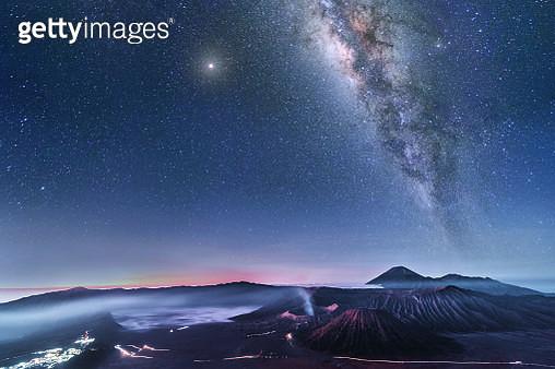 Astrophoto Milky way at Volcano Mt.Bromo East Java,Indonesia - gettyimageskorea