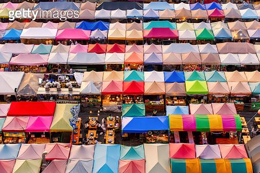 Train Night Market Ratchada in Bangkok city, Thailand - gettyimageskorea