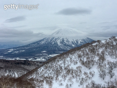 Looking at Mount Yotei from Niseko Ski Resort, Japan - gettyimageskorea