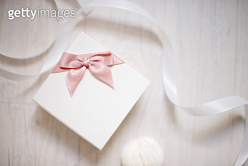 Jewellery box and ribbon - gettyimageskorea