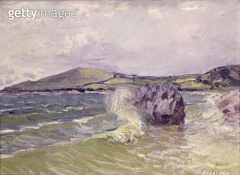<b>Title</b> : Lady's Cove, Wales, 1897 (oil on canvas)<br><b>Medium</b> : oil on canvas<br><b>Location</b> : Musee des Beaux-Arts, Rouen, France<br> - gettyimageskorea