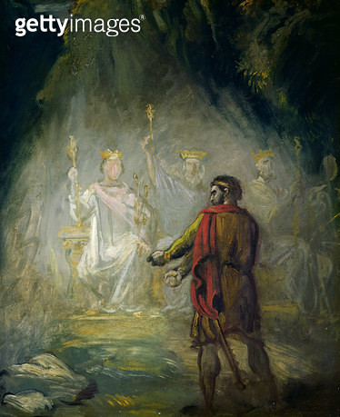 <b>Title</b> : Macbeth (oil on canvas)<br><b>Medium</b> : oil on canvas<br><b>Location</b> : Musee des Beaux-Arts, Valenciennes, France<br> - gettyimageskorea