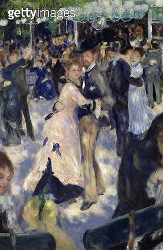 <b>Title</b> : Le Moulin de la Galette, 1876  (detail of the dancers) (oil on canvas)<br><b>Medium</b> : oil on canvas<br><b>Location</b> : Musee d'Orsay, Paris, France<br> - gettyimageskorea