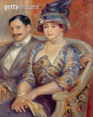 <b>Title</b> : Monsieur et Madame Bernheim de Villers, 1910 (oil on canvas)<br><b>Medium</b> : oil on canvas<br><b>Location</b> : Musee d'Orsay, Paris, France<br> - gettyimageskorea