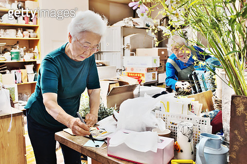 Seniors of small flower shop - gettyimageskorea