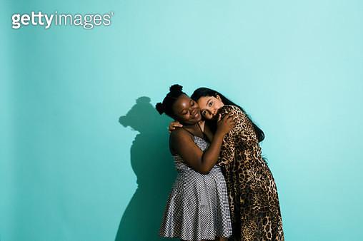 Bisexual Couple Hugging - gettyimageskorea