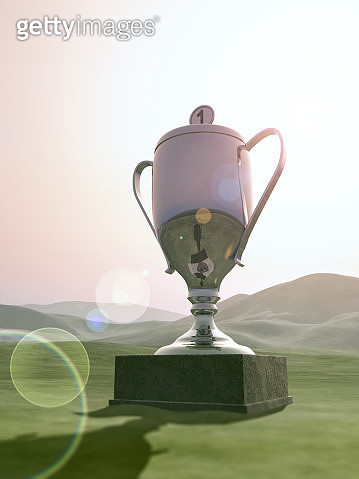 big trophy sitting in landscape - gettyimageskorea