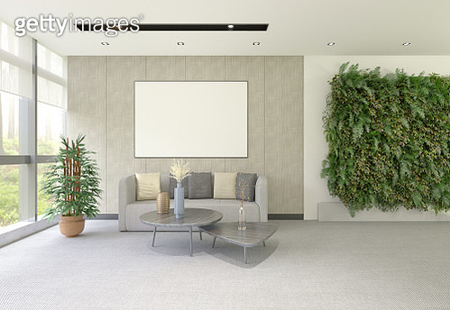 Modern office with vertical garden - gettyimageskorea