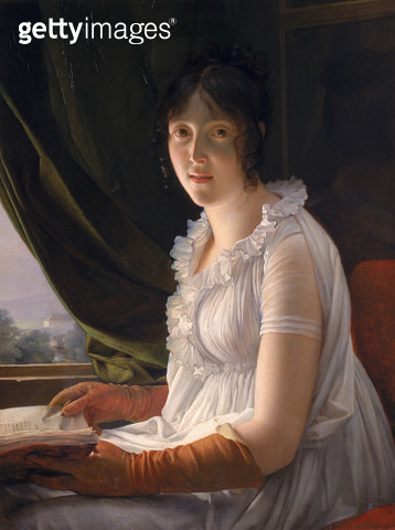 <b>Title</b> : Seated Portrait of Marie-Philippe-Claude Walbonne (1763-c.1837) c.1796 (oil on panel)<br><b>Medium</b> : oil on panel<br><b>Location</b> : Louvre, Paris, France<br> - gettyimageskorea
