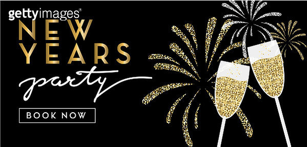 New Years 2019 party reservation booking design web banner with text - gettyimageskorea