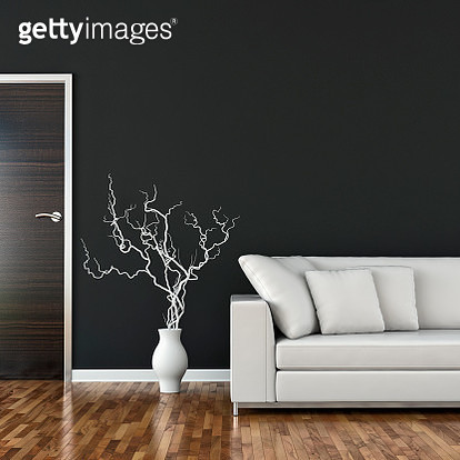Living room with sofa, decoration and copy space - gettyimageskorea
