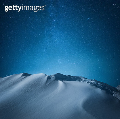 Mountain Under The Starry Sky - gettyimageskorea