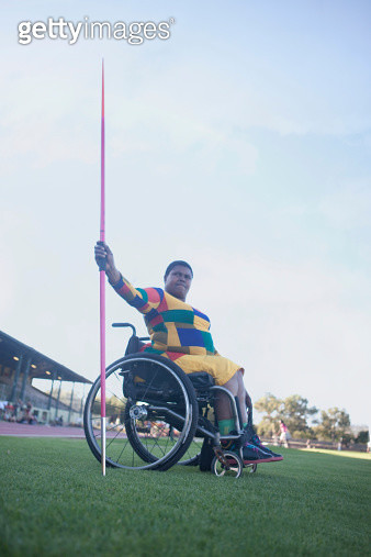 Wheelchair javelin thrower - gettyimageskorea