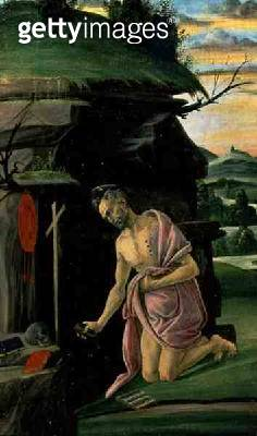 <b>Title</b> : St. Jerome, 1490s (tempera on panel)<br><b>Medium</b> : tempera on panel<br><b>Location</b> : Hermitage, St. Petersburg, Russia<br> - gettyimageskorea