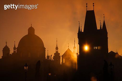 Golden sunrise in Prague - gettyimageskorea