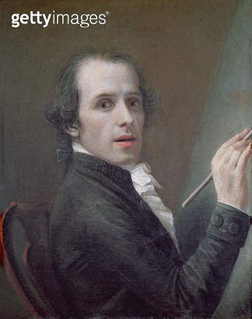 <b>Title</b> : Self Portrait, 1790 (oil on canvas)<br><b>Medium</b> : oil on canvas<br><b>Location</b> : Galleria degli Uffizi, Florence, Italy<br> - gettyimageskorea