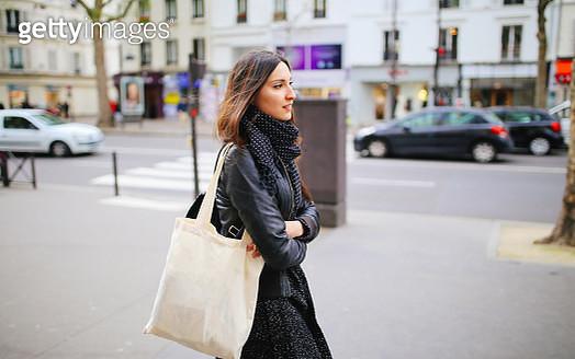 Young Parisian woman walking - gettyimageskorea