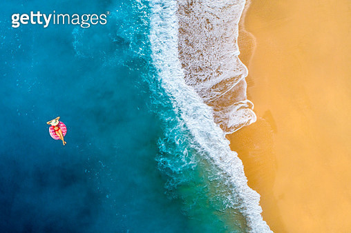 Swimming in clear turquoise sea - gettyimageskorea