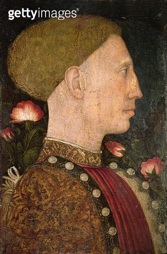 <b>Title</b> : Portrait of Lionello d'Este (d.1450)<br><b>Medium</b> : tempera on panel<br><b>Location</b> : Galleria dell' Accademia Carrara, Bergamo, Italy<br> - gettyimageskorea