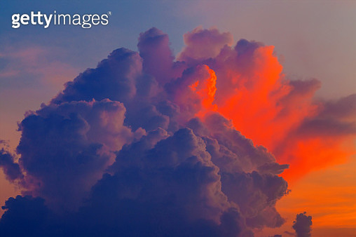 Dramatic Sky During Sunset - orange clouds - gettyimageskorea