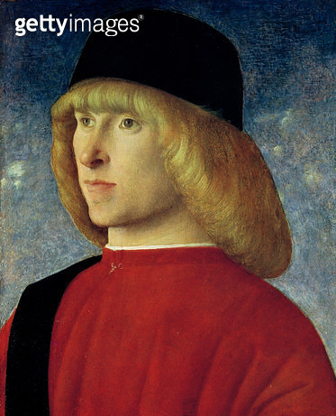 <b>Title</b> : Portrait of a Young Senator, 1485-90 (oil on panel)<br><b>Medium</b> : oil on panel<br><b>Location</b> : Museo Civico, Padua, Italy<br> - gettyimageskorea