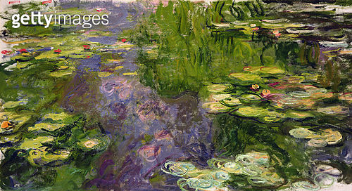 Waterlilies<br>Private Collection - gettyimageskorea