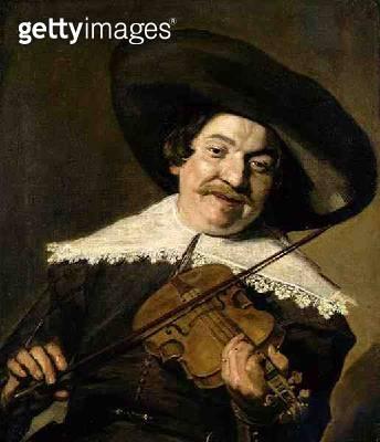 <b>Title</b> : Daniel van Aken Playing the Violin, c.1640 (oil on canvas)<br><b>Medium</b> : oil on canvas<br><b>Location</b> : Nationalmuseum, Stockholm, Sweden<br> - gettyimageskorea