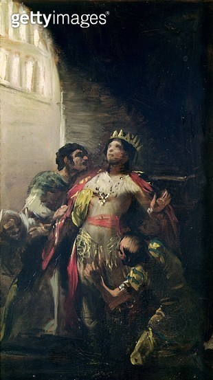 <b>Title</b> : St. Hermengild (d.585) in Prison, c.1799 (oil on canvas)Additional Infoson of the Spanish Visigoth Arian king Levigild; tortured<br><b>Medium</b> : oil on canvas<br><b>Location</b> : Museo Lazaro Galdiano, Madrid, Spain<br> - gettyimageskorea
