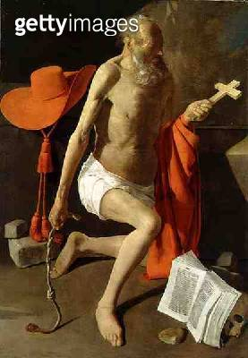 <b>Title</b> : The Penitent St. Jerome (oil on canvas)Additional Infobook alludes to his translation of the Bible; he would also beat himself w<br><b>Medium</b> : oil on canvas<br><b>Location</b> : Nationalmuseum, Stockholm, Sweden<br> - gettyimageskorea