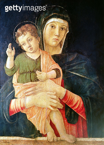 <b>Title</b> : The Virgin and Child Blessing, 1460-70 (tempera on panel)<br><b>Medium</b> : tempera on panel<br><b>Location</b> : Galleria dell' Accademia, Venice, Italy<br> - gettyimageskorea