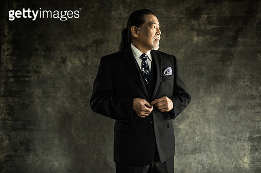 Studio portrait of businessman - gettyimageskorea