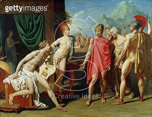 <b>Title</b> : Ambassadors Sent by Agamemnon to Urge Achilles to Fight, 1801 (oil on canvas)<br><b>Medium</b> : oil on canvas<br><b>Location</b> : Ecole Nationale Superieure des Beaux-Arts, Paris, France<br> - gettyimageskorea