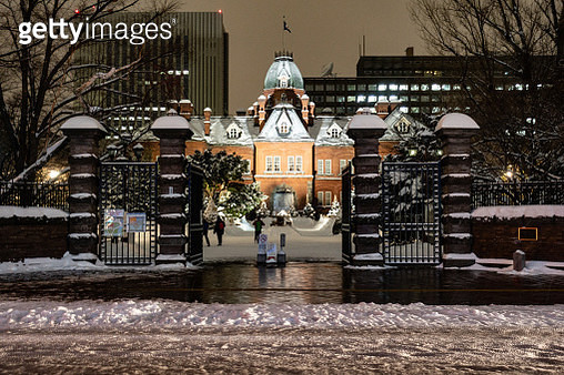 The Former Hokkaido Government Office in Sapporo city in Hokkaido in Japan - gettyimageskorea