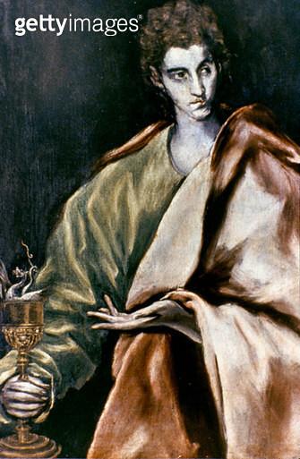 SAINT JOHN THE EVANGELIST. /nOil, c1600, by El Greco. - gettyimageskorea