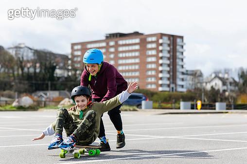 Spending the Weekend Skateboarding - gettyimageskorea